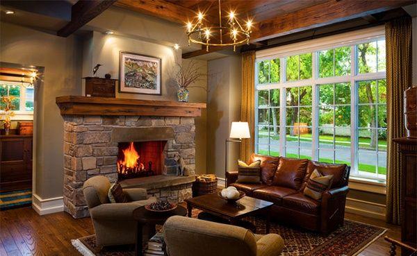 Выбор дизайна зала в частном доме