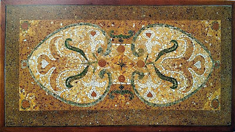 Мозаичные полы из мраморной крошки на итальянский мотив