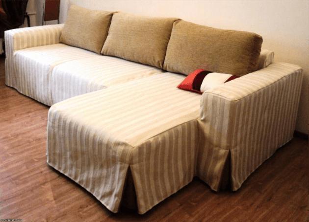 Как сшить чехол на угловой диван
