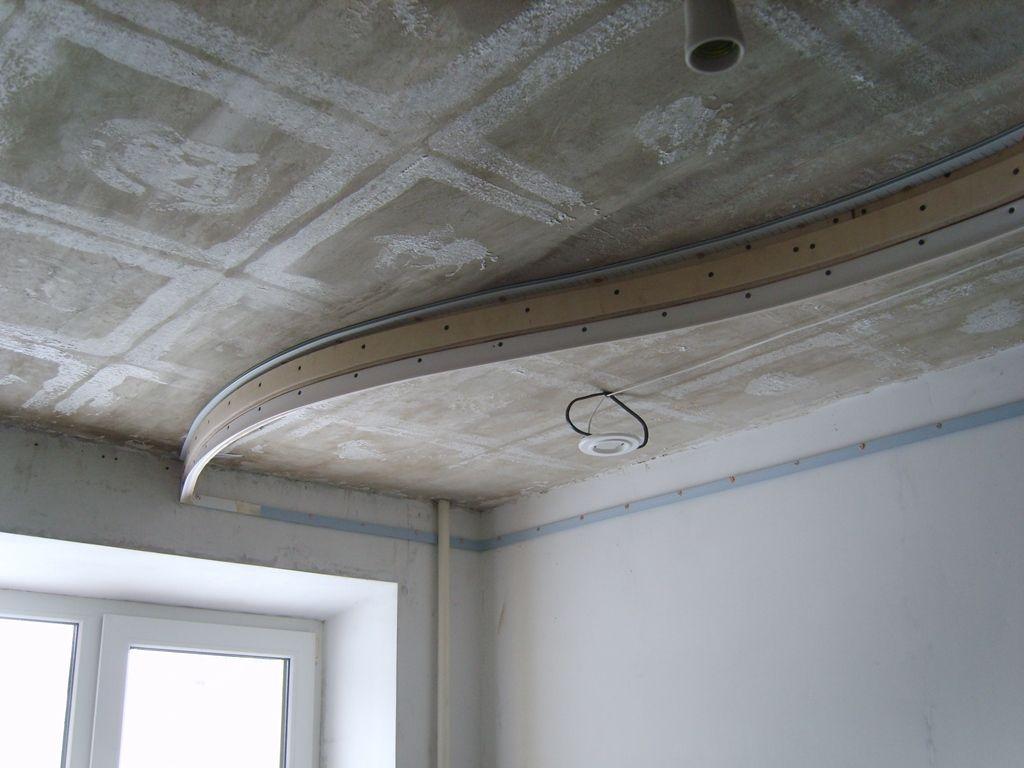 Как делают двухуровневые натяжные потолки