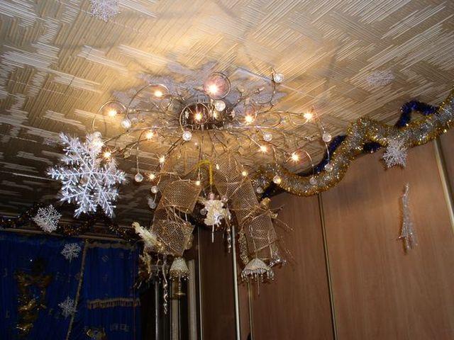 Как украсить потолок к новому году