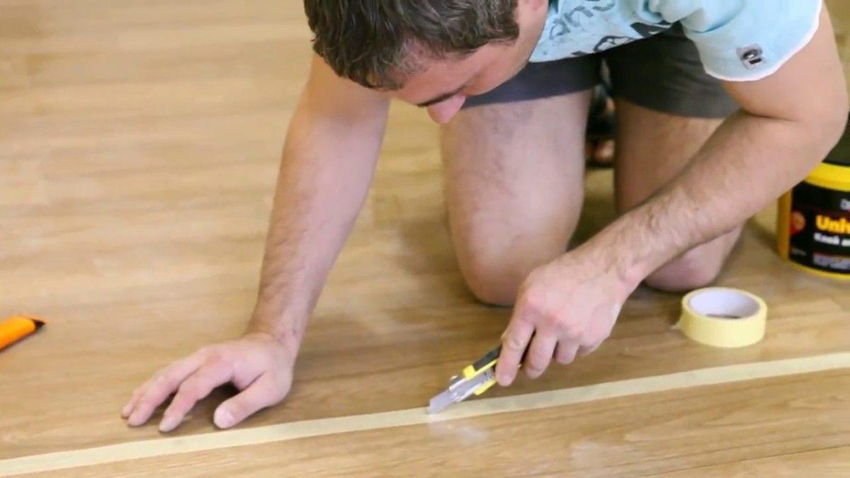 Как склеить линолеум в домашних условиях на пять?
