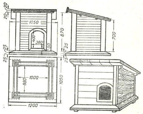 Как построить будку для собаки своими руками: заботимся о питомце