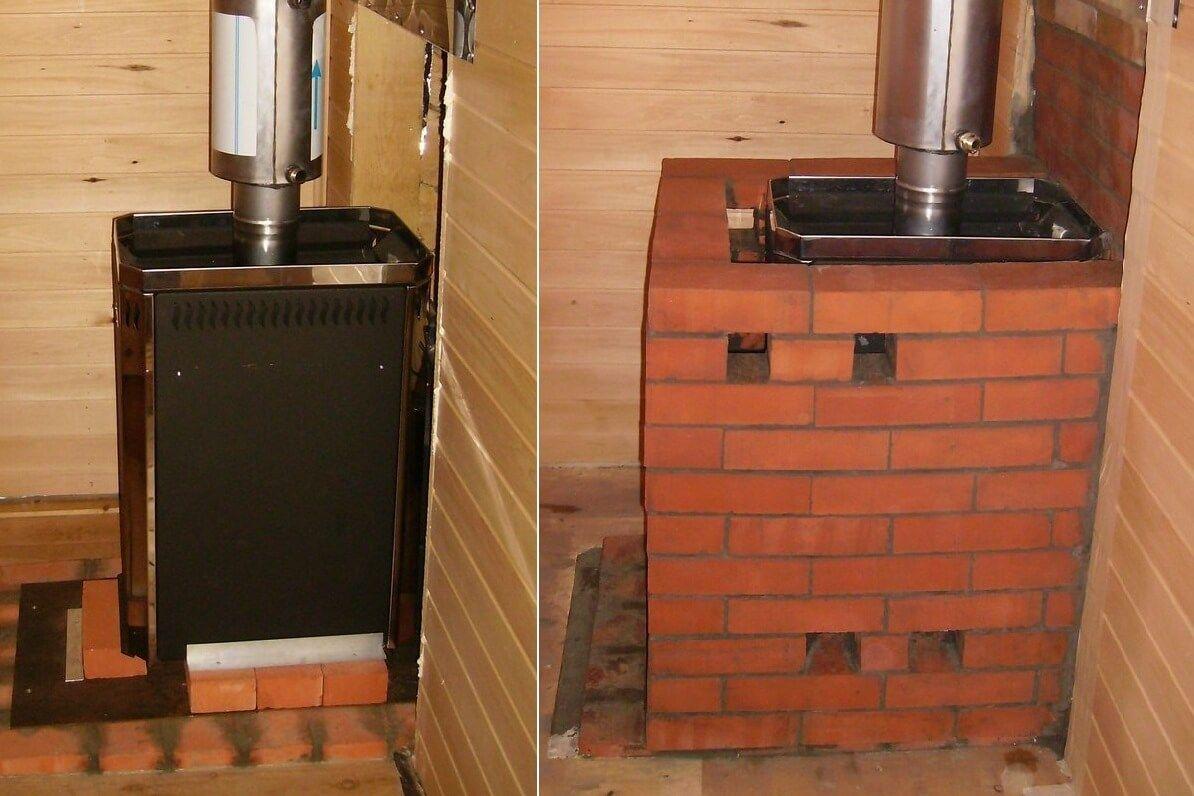 Как обложить железную печь в бане кирпичом: идеальная комбинация