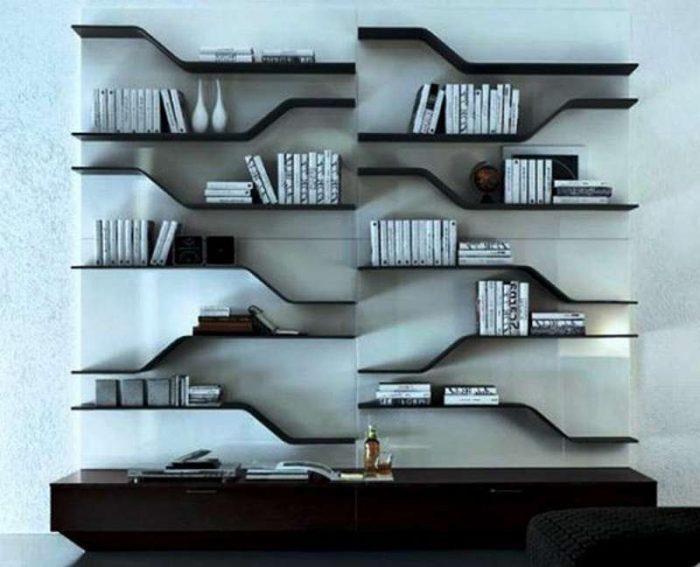 Декоративные полки на стену: фото «красавиц», виды, рекомендации
