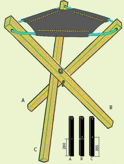 Складной стул своими руками: чертеж, материалы, изготовление