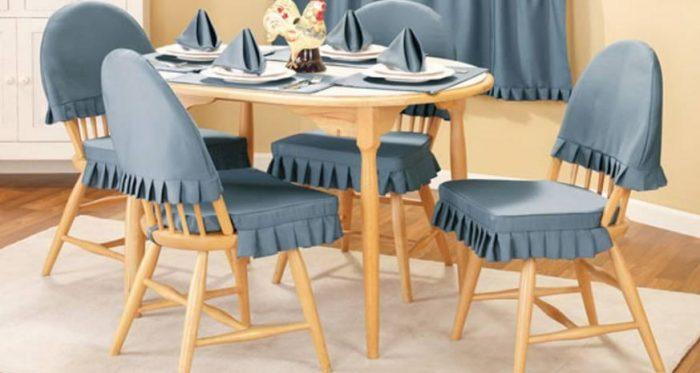 Как сшить чехлы на стулья: быстрое преображение мебели и интерьера