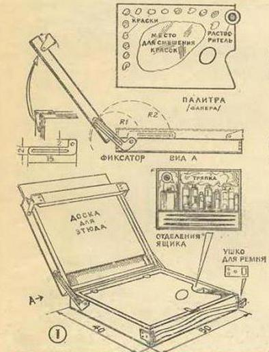 Этюдник своими руками: несколько схем, но всего одна инструкция