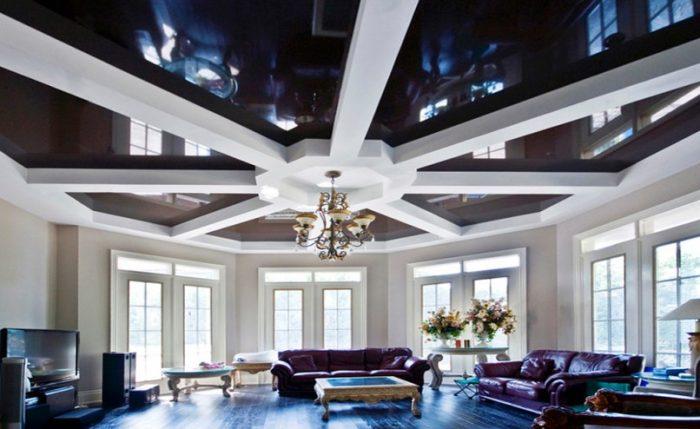 Многоуровневые потолки: виды, формы, их достоинства и недостатки
