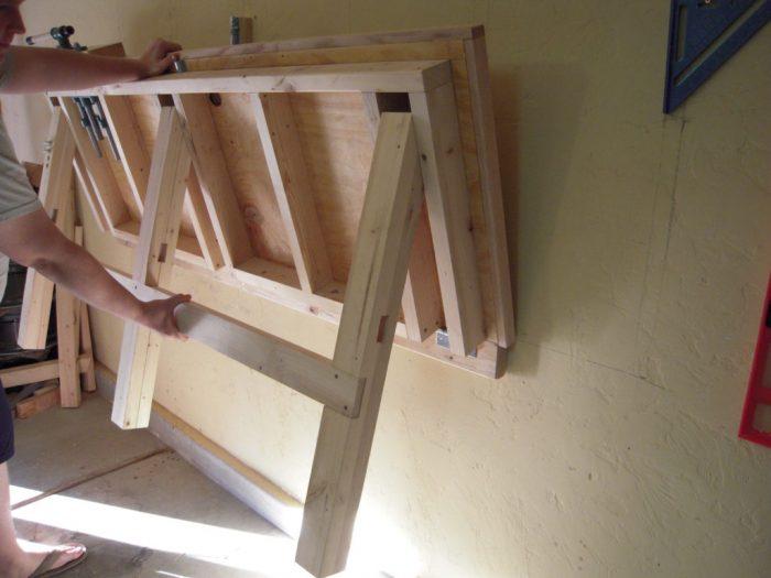 Складной верстак своими руками: что нам стоит простой стол построить