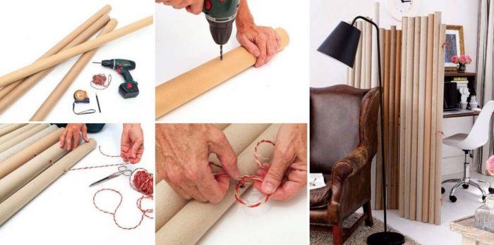 Как сделать ширму своими руками: легкая работа — красивый интерьер