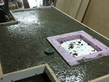 Столешница из бетона своими руками: простота, прочность, строгость и изящество
