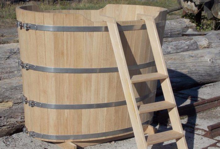 Купель для бани своими руками: деревянная, бетонная и модель миниатюра