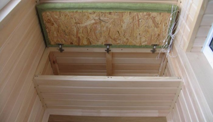 Диван на балкон с ящиком для хранения: функциональная мебель сундук