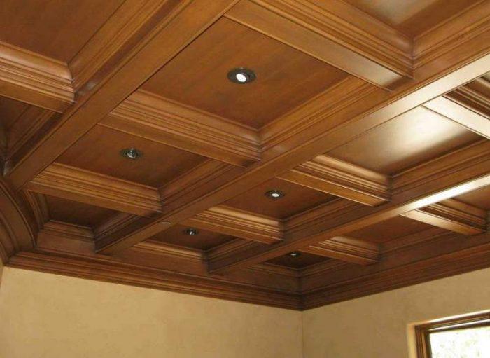 Кессонный потолок: лучшие материалы, виды и особенности конструкций