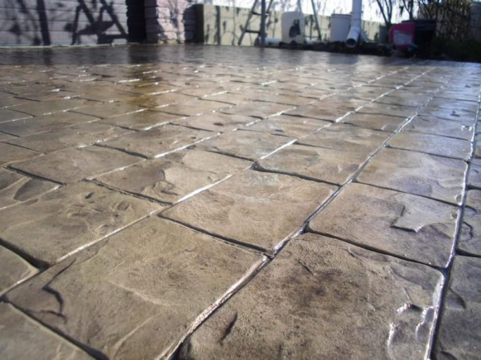 Декоративный бетон своими руками: характеристики, пропорции, инструкция