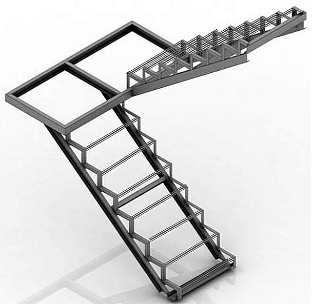 Простая металлическая лестница с площадкой: как сделать ее своими руками