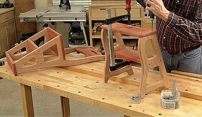 Лестница-трансформер своими руками: стремянка, симпатичный стул и табурет