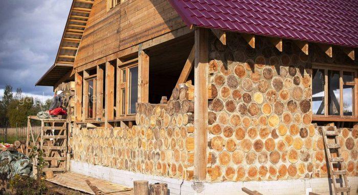 Здания из дров: технология, плюсы и минусы, проекты домов из глиночурки