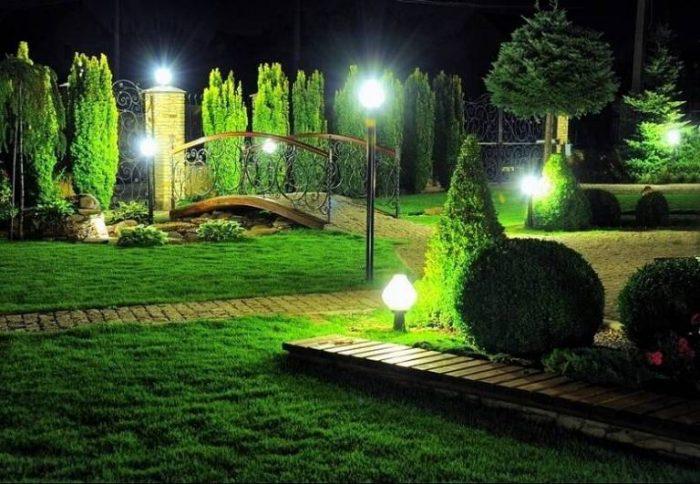 Уличная подсветка частного дома: фасад и декоративное освещение участка