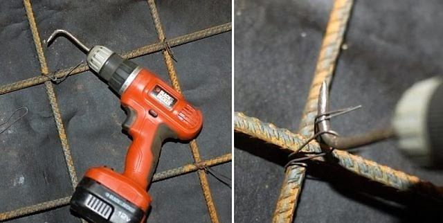 Как правильно вязать арматуру: помощь крючка, шуруповерта или пистолета