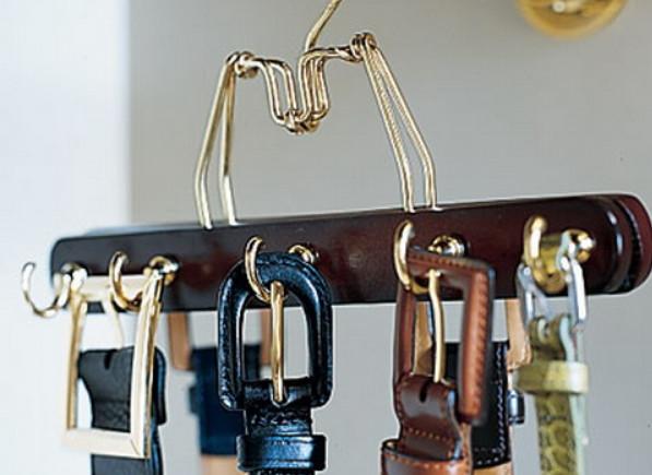 Как сделать вешалку для ремней своими руками: обзор популярных способов