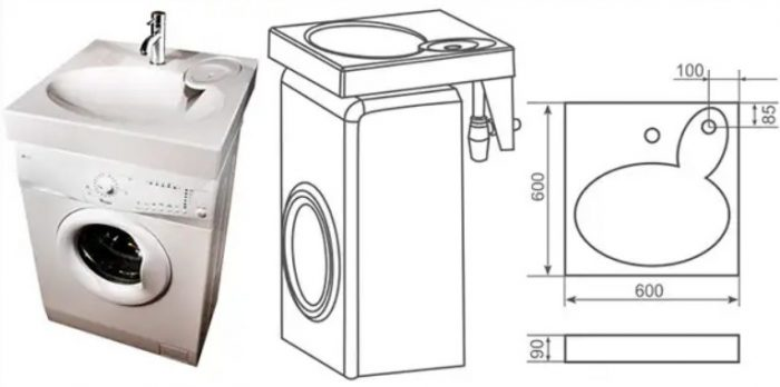 Как установить раковину над стиральной машиной: ванной комнате — свободу