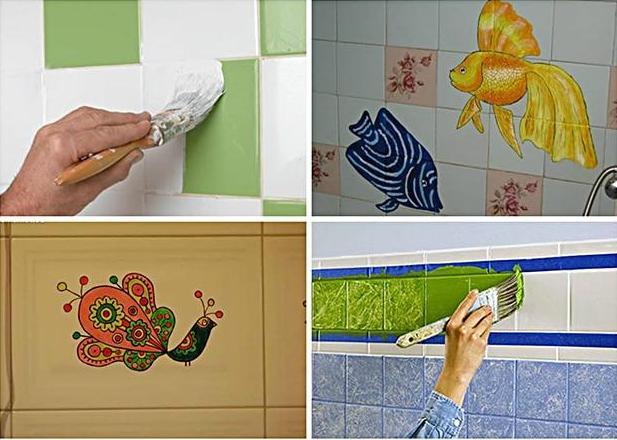 Как покрасить плитку в ванной: способ простой, но эффектно эффективный