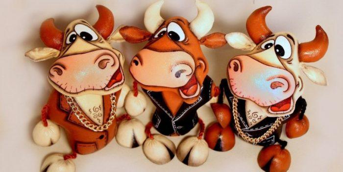 Поделки своими руками на Новый год 2021: покровитель бык и его коллеги