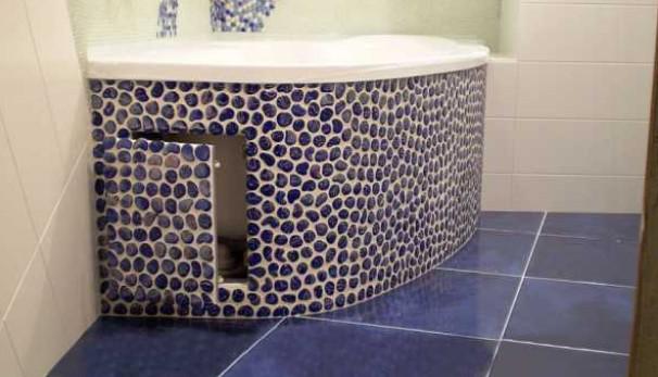 Как сделать экран под ванной: материалы, способы создания конструкций