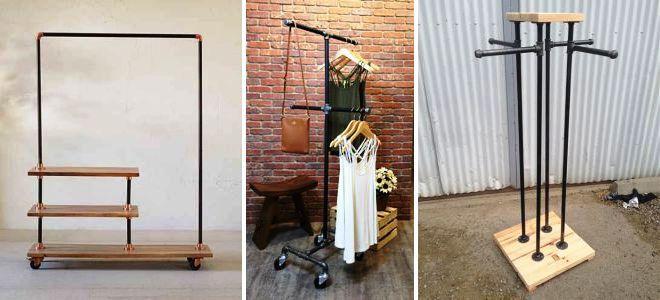 Как сделать вешалку для одежды своими руками: идеи и простые варианты