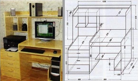 Как сделать компьютерный стол: материалы, разные модели и их создание