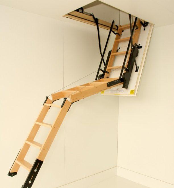 Лестница на чердак своими руками: несколько вариантов сборки «спасительницы»