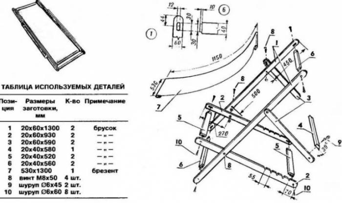 Как сделать шезлонг: 4 варианта изготовления «участковой» мебели для релаксации