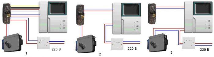 Как подключить видеодомофон: элементы, схемы подключения и монтаж