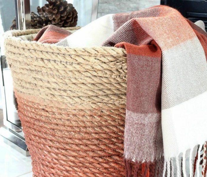 Корзина для белья своими руками: виды изделий, материалы и изготовление