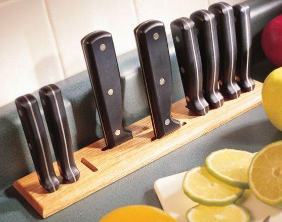 Подставка для ножей своими руками: простые и сложные варианты изготовления