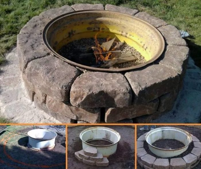 Как сделать кострище: виды чаш, материалы и сооружение конструкций
